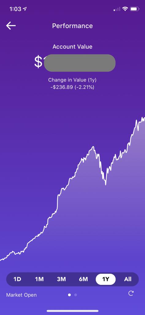 Raiz Performance past 12 months